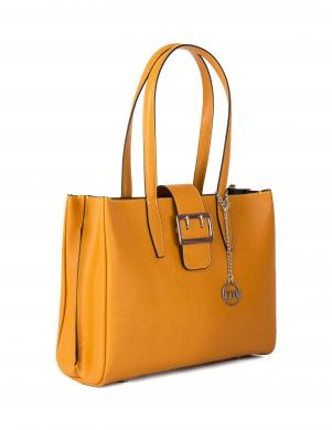 MIA TOMAZZI dzeltena ādas sieviešu soma