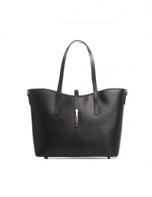 LUCCA BALDI melnas krāsas ādas sieviešu soma
