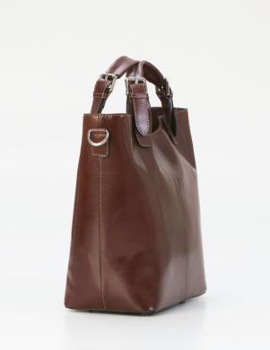 PIA SASSI brūna ādas sieviešu soma
