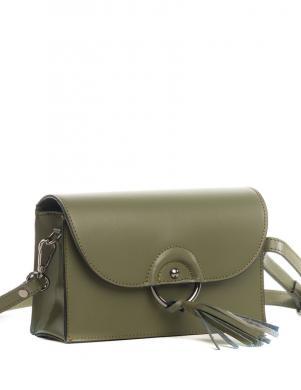 PIA SASSI zaļa ādas sieviešu soma