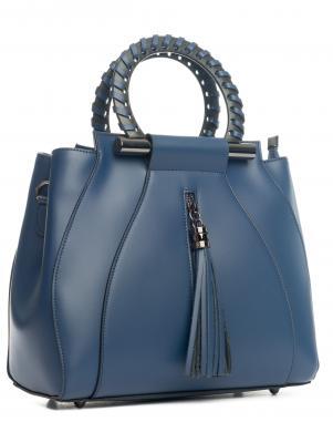 PIA SASSI zila ādas sieviešu soma