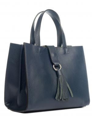 PIA SASSI tumši zila sieviešu soma