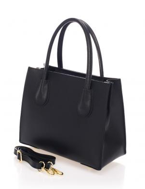 ZOE & NOE melns ādas sieviešu soma