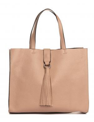 LIA BIASSONI krēmīga ādas sieviešu soma