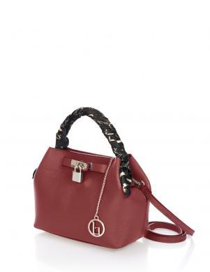 LIA BIASSONI sarkana ādas sieviešu soma