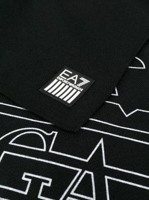 EA7 melna vīriešu šalle