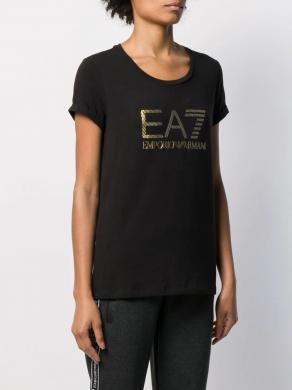EA7 melns sieviešu krekls