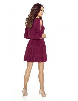 BERGAMO sieviešu bordo krāsas kleita