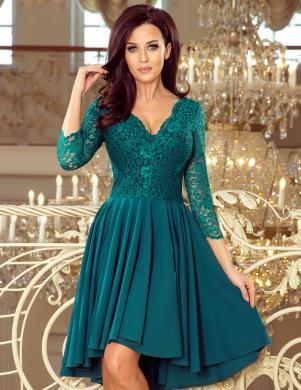 NUMOCO zaļa stilīga kleita