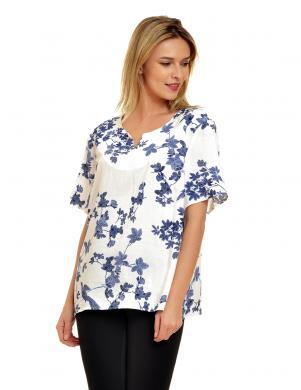 LARUE baltas krasas krasaina sieviešu bluze