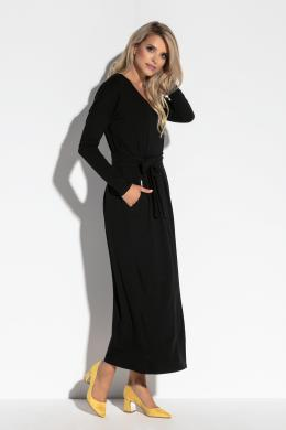 FOBYA melna sieviešu kleita