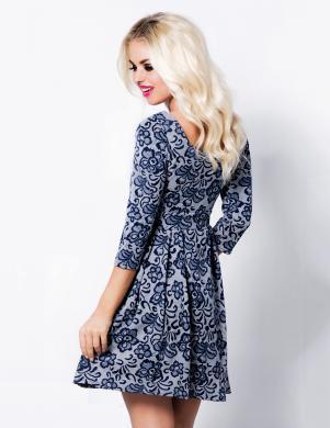 COCOVIU zilas krāsas skaista sieviešu kleita