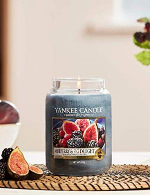 YANKEE CANDLE aromātiskā svece MULBERRY & FIG DELIGHT 623 g