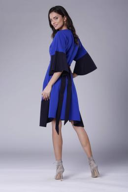 COLOUR MIST tumši zila kleita