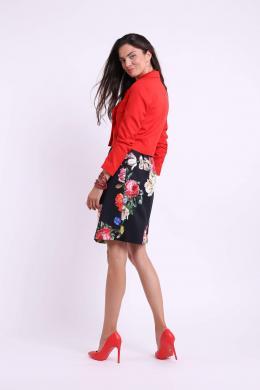 COLOUR MIST sarkana sieviešu jaka