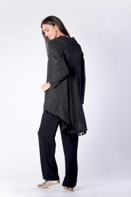 COLOUR MIST melns sieviešu džemperis