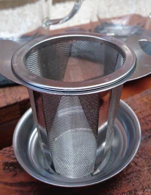 SAKURA TEA nerūsējošā tērauda tējas sietiņš