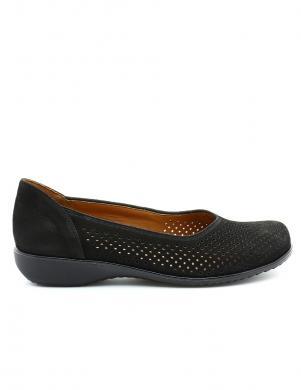 Sieviešu melni perforēti apavi ARA