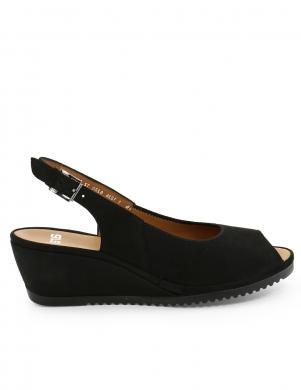 Sieviešu melnas sandales ar augstu platformu ARA