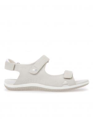 Sieviešu pelēkas sandales ar velkro aizdari D SANDAL VEGA GEOX