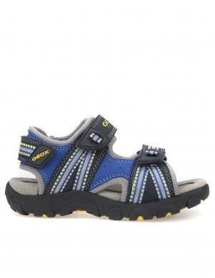 Bērnu zilas sandales ar velkro aizdari JR SANDAL STRADA GEOX