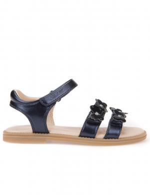 Bērnu zilas sandales ar tauriņiem J SANDAL KARLY GIRL GEOX