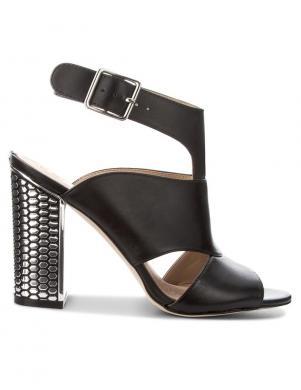 Sieviešu melnas elegantas sandales ar metāla papēdi GUESS