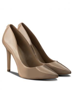 Sieviešu miesas krāsas lakoti augstpapēžu apavi GUESS