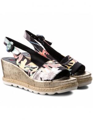 Sieviešu krāsainas sandales ar ziedu motīvu HOGL