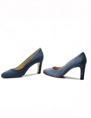Sieviešu gaiši zili zamšādas augstpapēžu apavi HOGL