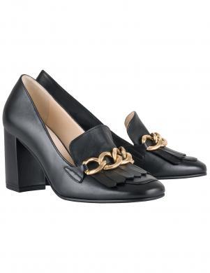 Sieviešu melni augstpapēža apavi ar ķēdīti HOGL