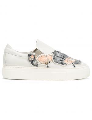 Sieviešu puķaini ādas apavi AGL