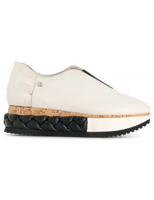 Sieviešu ādas balti apavi AGL