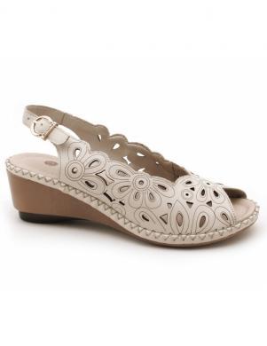 Sieviešu krēmīgas grieztas ādas sandales REMONTE