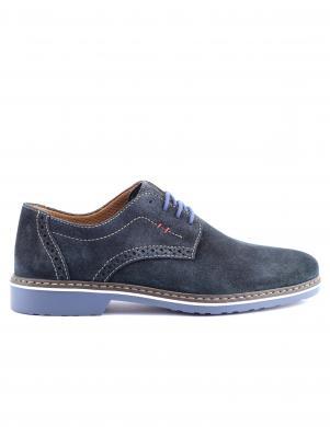 Vīriešu zilas zamšas apavi RIEKER