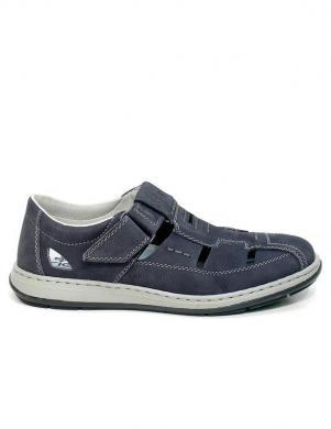 Vīriešu zilas slēgtas sandales RIEKER