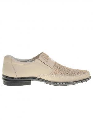 Vīriešu krēmīgi perforēti apavi RIEKER