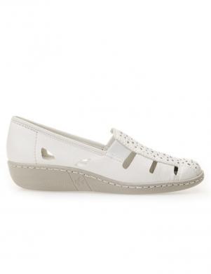 Sieviešu balti daļēji atvērti apavi RIEKER