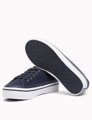 Sieviešu zili pilnpapēža brīva laika apavi ar augstu zoli TOMMY HILFIGER