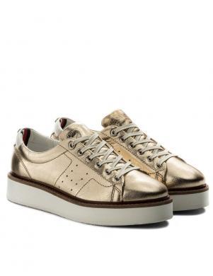 Sieviešu zelta pilnpapēža brīva laika apavi TOMMY HILFIGER