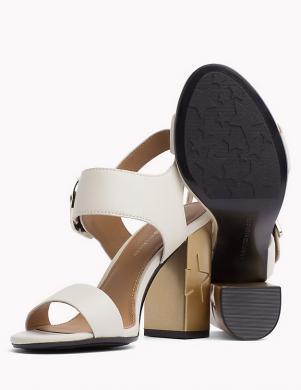 Sieviešu baltas elegantas augstpapēžu sandales TOMMY HILFIGER