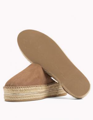 Sieviešu brūnas uz pusi atvērtas pilnzoles sandales TOMMY HILFIGER