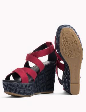 Sieviešu sarkanas pilnzoles atvērtas sandales TOMMY HILFIGER