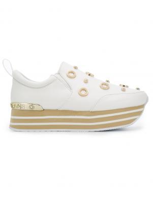 Sieviešu balti apavi ar augstu zoli VERSACE JEANS
