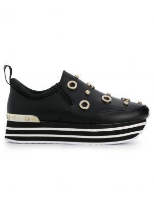 Sieviešu melni apavi ar augstu zoli VERSACE JEANS