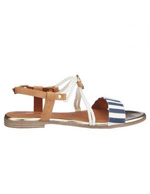 Sieviešu sandales ar svītrainu siksnu TAMARIS