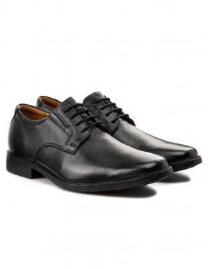 CLARKS vīriešu melni ādas klasiski apavi