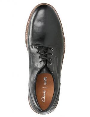 CLARKS vīriešu melni ādas eleganti apavi
