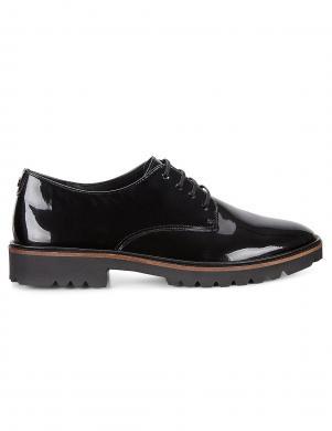 ECCO INCISE TAILORED sieviešu melni lakoti šņorējami apavi