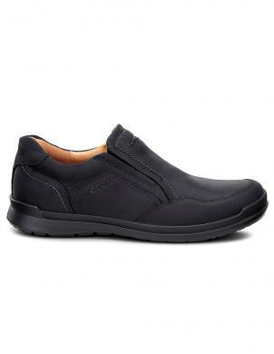 ECCO HOWELL vīriešu melni ādas apavi